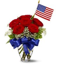 Star Spangled Rose Bouquet Floyd, VA Florist, Floyd Florists, Florists in Floyd VA, Floyd Florists - Floyd VA Flowers Delivery,