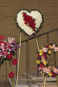 White Heart with Red Carnations Floyd, VA Florist, Floyd Florists, Florists in Floyd VA, Floyd Florists - Floyd VA Flowers Delivery,