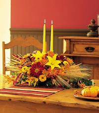 Centerpiece with Tapers Floyd, VA Florist, Floyd Florists, Florists in Floyd VA, Floyd Florists - Floyd VA Flowers Delivery,