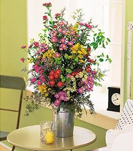 French Country Pail Floyd, VA Florist, Floyd Florists, Florists in Floyd VA, Floyd Florists - Floyd VA Flowers Delivery,