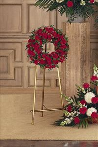 Small Red Wreath Floyd, VA Florist, Floyd Florists, Florists in Floyd VA, Floyd Florists - Floyd VA Flowers Delivery,
