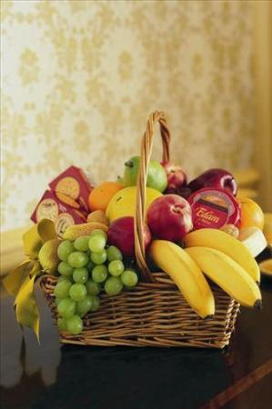 Cheese, Crackers & Fruit Basket Floyd, VA Florist, Floyd Florists, Florists in Floyd VA, Floyd Florists - Floyd VA Flowers Delivery,