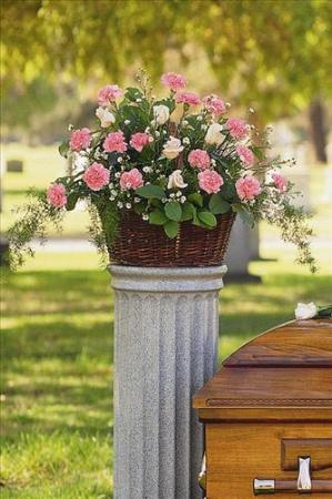 Basket with Pink Flowers Floyd, VA Florist, Floyd Florists, Florists in Floyd VA, Floyd Florists - Floyd VA Flowers Delivery,