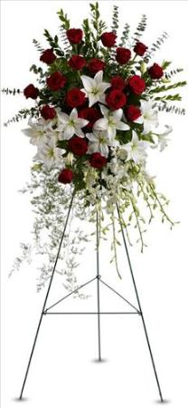 Lily and Rose Tribute Spray Floyd, VA Florist, Floyd Florists, Florists in Floyd VA, Floyd Florists - Floyd VA Flowers Delivery,