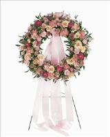 Mixed Pink Wreath Floyd, VA Florist, Floyd Florists, Florists in Floyd VA, Floyd Florists - Floyd VA Flowers Delivery,