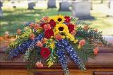 Mixed Summer Casket Spray Floyd, VA Florist, Floyd Florists, Florists in Floyd VA, Floyd Florists - Floyd VA Flowers Delivery,