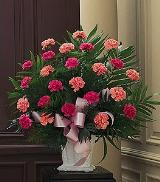 Basket with Pink Carnations Floyd, VA Florist, Floyd Florists, Florists in Floyd VA, Floyd Florists - Floyd VA Flowers Delivery,
