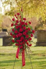 All-Red Standing Spray Floyd, VA Florist, Floyd Florists, Florists in Floyd VA, Floyd Florists - Floyd VA Flowers Delivery,