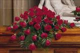 48 Red Rose Casket Spray Floyd, VA Florist, Floyd Florists, Florists in Floyd VA, Floyd Florists - Floyd VA Flowers Delivery,
