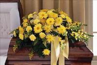 All-Yellow Casket Spray Floyd, VA Florist, Floyd Florists, Florists in Floyd VA, Floyd Florists - Floyd VA Flowers Delivery,