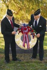 Red, White & Blue Wreath Floyd, VA Florist, Floyd Florists, Florists in Floyd VA, Floyd Florists - Floyd VA Flowers Delivery,