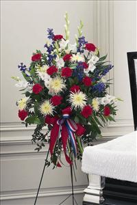 Red, White & Blue Easel Spray Floyd, VA Florist, Floyd Florists, Florists in Floyd VA, Floyd Florists - Floyd VA Flowers Delivery,
