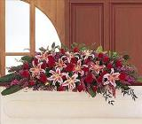 Amethyst And Ruby Casket Spray Floyd, VA Florist, Floyd Florists, Florists in Floyd VA, Floyd Florists - Floyd VA Flowers Delivery,