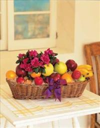 Plant and Fruit Basket Floyd, VA Florist, Floyd Florists, Florists in Floyd VA, Floyd Florists - Floyd VA Flowers Delivery,